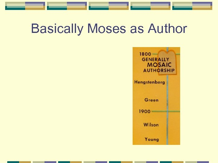 Basically Moses as Author