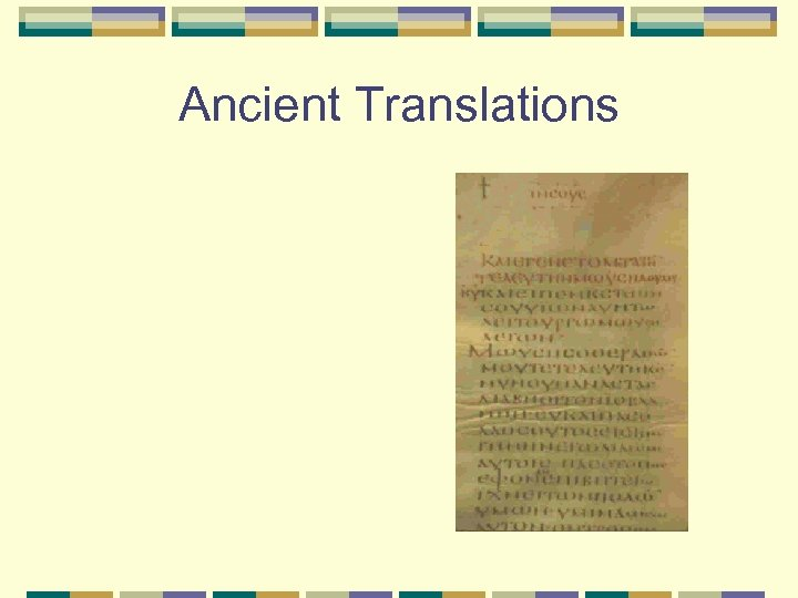Ancient Translations