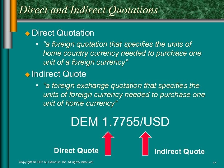 """Direct and Indirect Quotations u Direct Quotation • """"a foreign quotation that specifies the"""