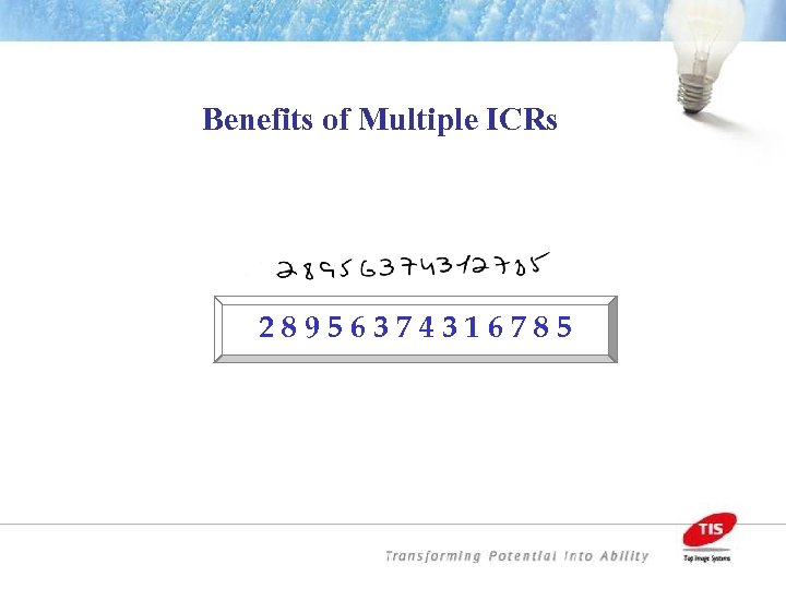 Benefits of Multiple ICRs 28956374316785