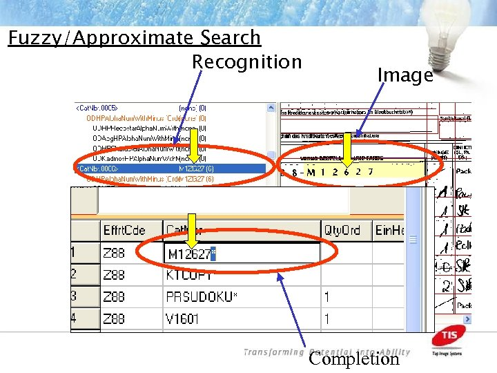 Fuzzy/Approximate Search Recognition Image Completion
