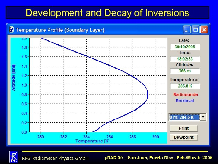 Development and Decay of Inversions RPG Radiometer Physics Gmb. H µRAD 06 – San