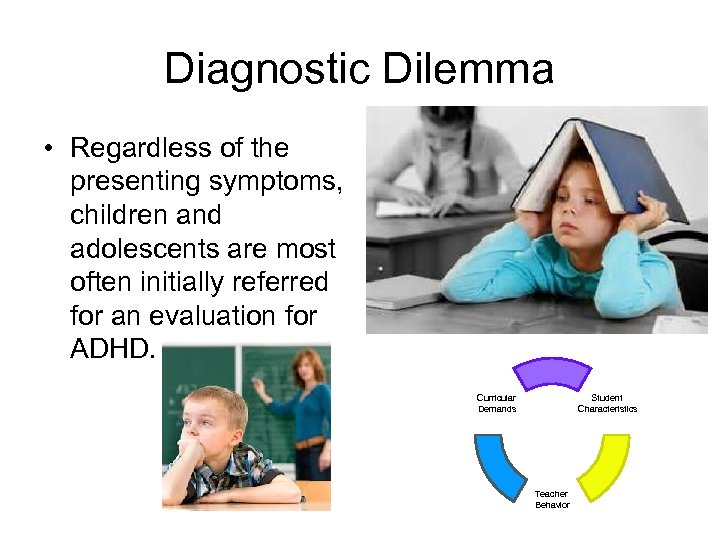 Diagnostic Dilemma • Regardless of the presenting symptoms, children and adolescents are most often