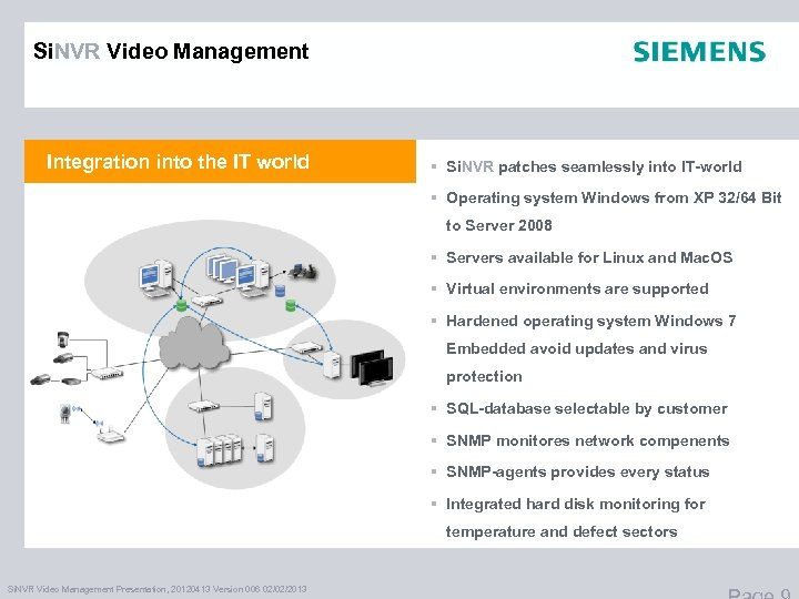 Si. NVR Video Management Integration into the IT world § Si. NVR patches seamlessly