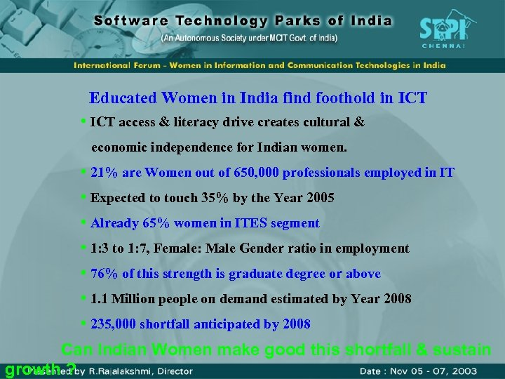 Educated Women in India find foothold in ICT • ICT access & literacy drive