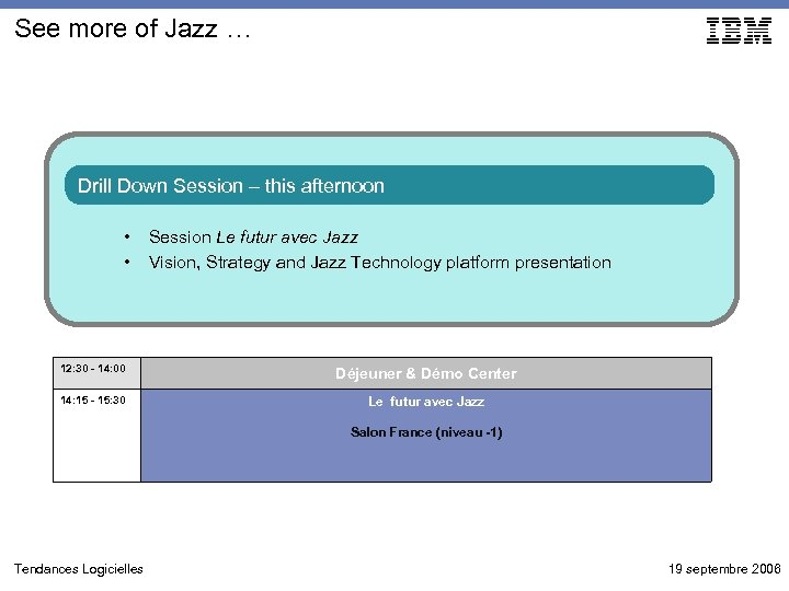 See more of Jazz … Drill Down Session – this afternoon • • Session