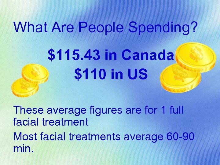 What Are People Spending? $115. 43 in Canada $110 in US These average figures