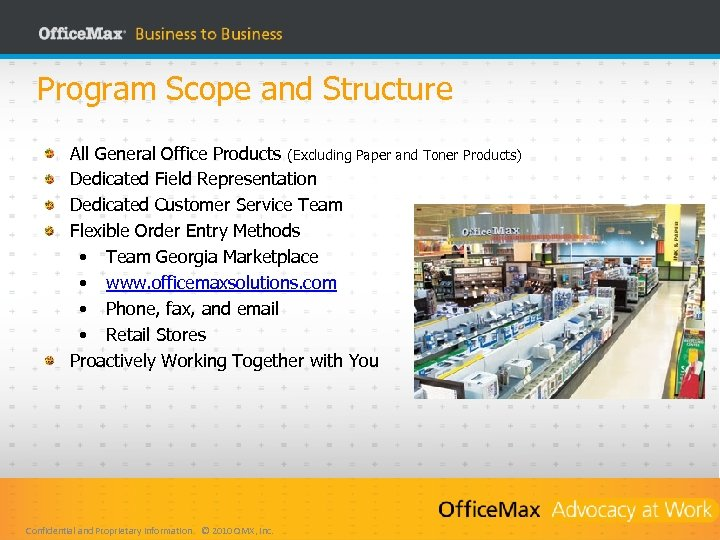 Program Scope and Structure All General Office Products (Excluding Paper and Toner Products) Dedicated