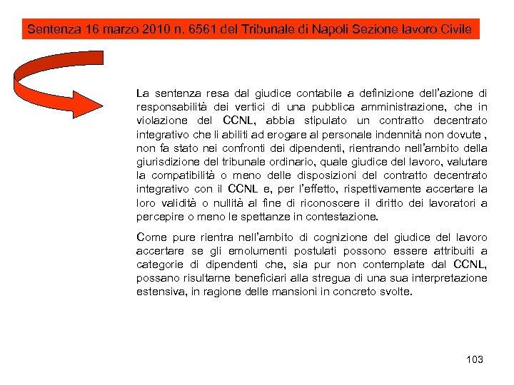 Sentenza 16 marzo 2010 n. 6561 del Tribunale di Napoli Sezione lavoro Civile La