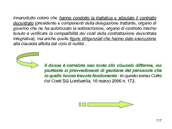 Innanzitutto coloro che hanno condotto la trattativa e stipulato il contratto decentrato (presidente e
