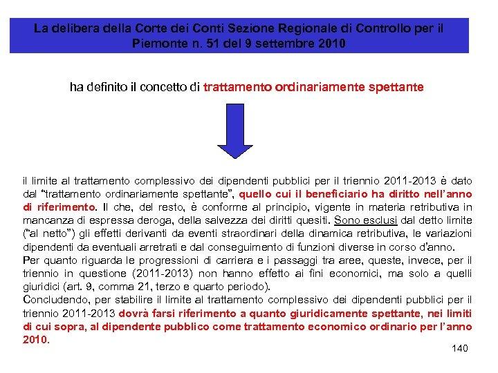 La delibera della Corte dei Conti Sezione Regionale di Controllo per il Piemonte n.