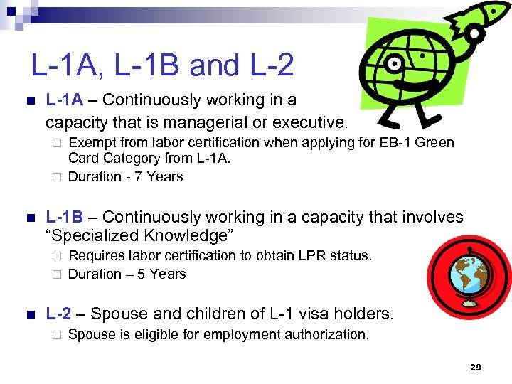 L-1 A, L-1 B and L-2 n L-1 A – Continuously working in a