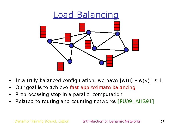 Load Balancing • • In a truly balanced configuration, we have |w(u) - w(v)|