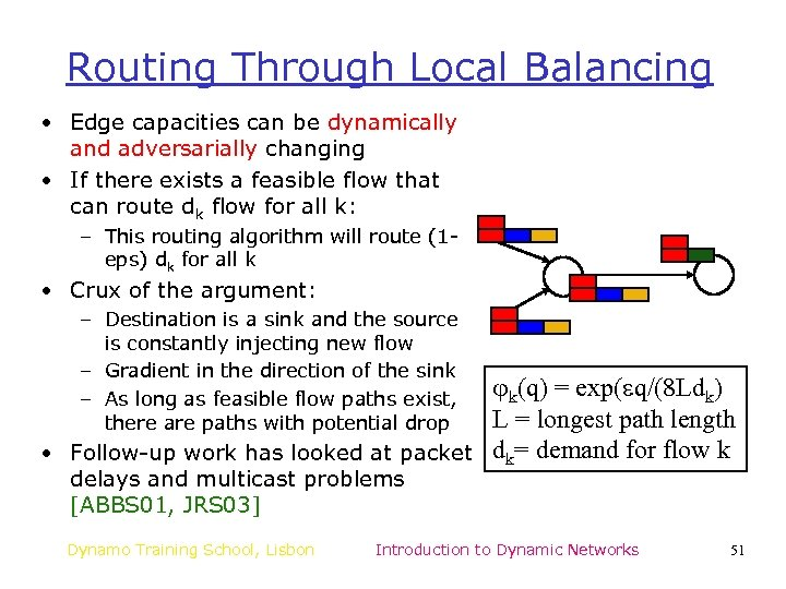 Routing Through Local Balancing • Edge capacities can be dynamically and adversarially changing •
