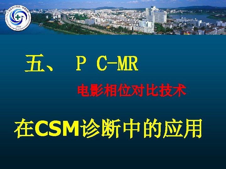 五、 P C-MR 电影相位对比技术 在CSM诊断中的应用