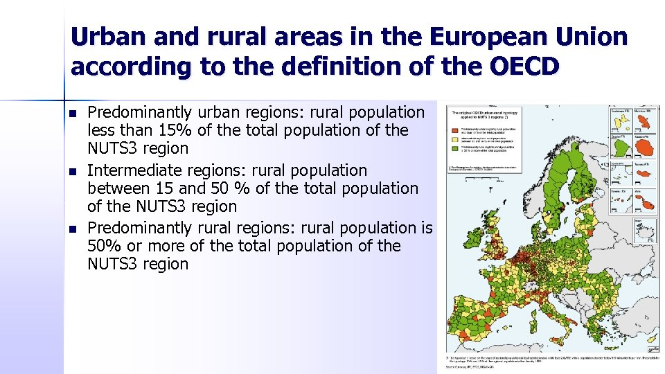 Urban and rural areas in the European Union according to the definition of the