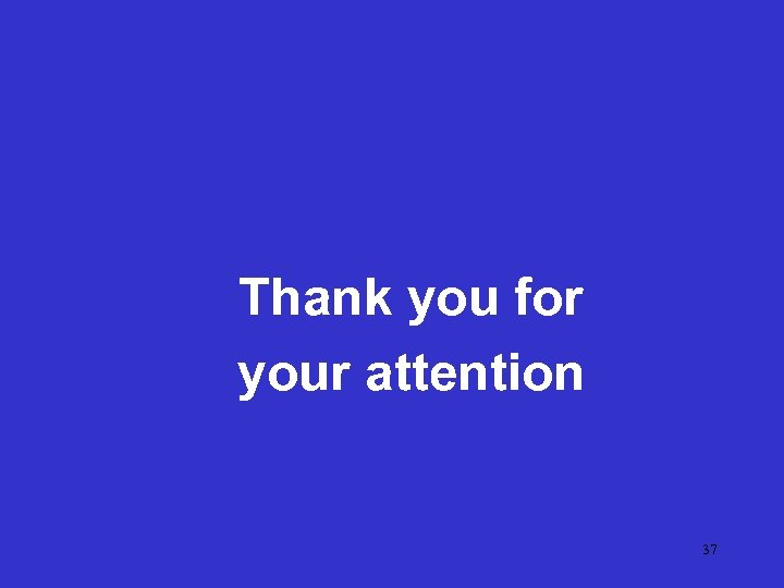 Thank you for your attention 37