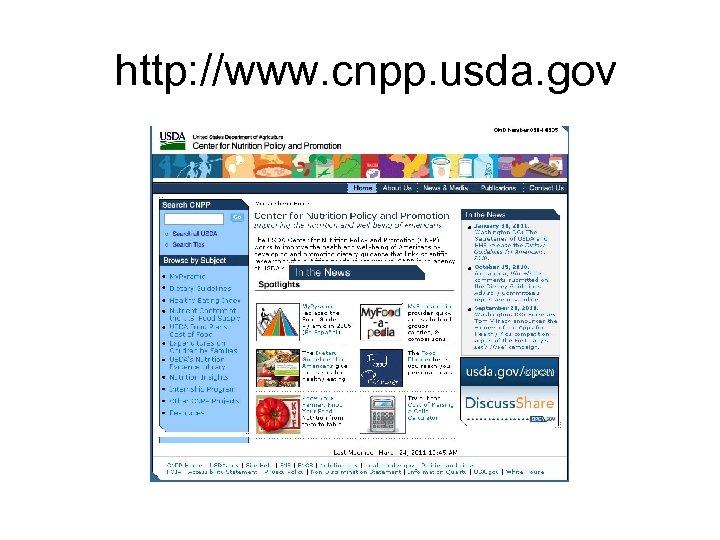 http: //www. cnpp. usda. gov