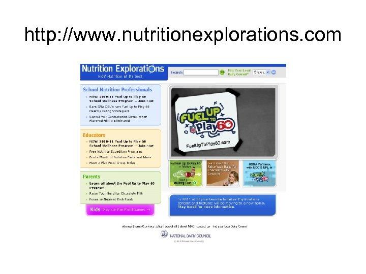 http: //www. nutritionexplorations. com