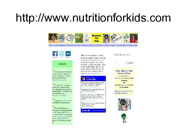 http: //www. nutritionforkids. com