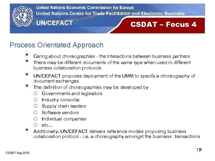 CSDAT – Focus 4 Process Orientated Approach • • • CSDAT Aug 2010 Caring
