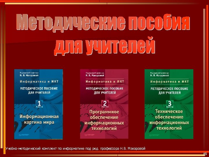 Учебно-методический комплект по информатике под ред. профессора Н. В. Макаровой 89