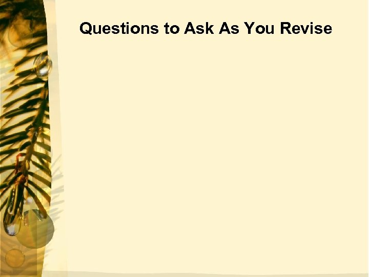 Questions to Ask As You Revise