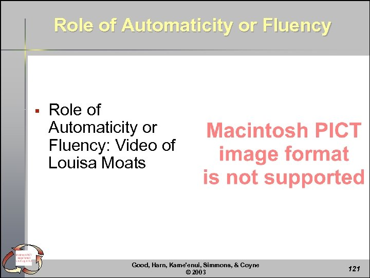 Role of Automaticity or Fluency § Role of Automaticity or Fluency: Video of Louisa