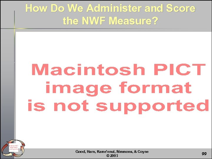 How Do We Administer and Score the NWF Measure? Good, Harn, Kame'enui, Simmons, &
