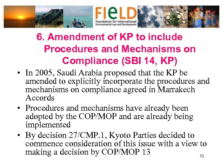 6. Amendment of KP to include Procedures and Mechanisms on Compliance (SBI 14, KP)