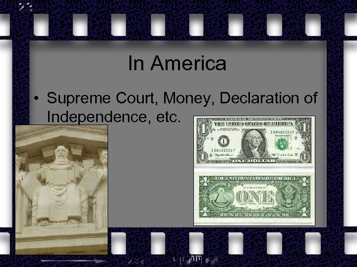 In America • Supreme Court, Money, Declaration of Independence, etc.