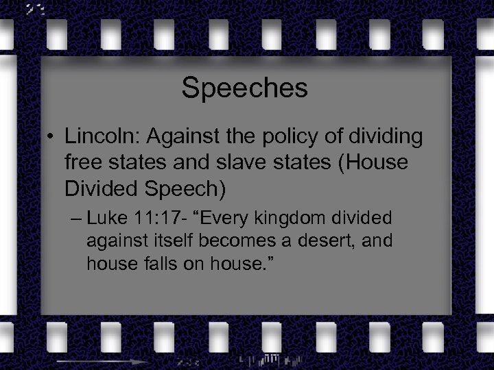 Speeches • Lincoln: Against the policy of dividing free states and slave states (House