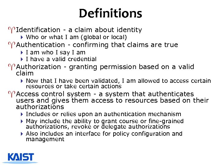 Definitions ^ Identification - a claim about identity 4 Who or what I am