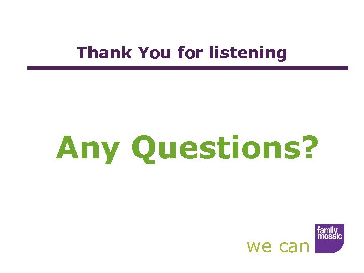 Thank You for listening Any Questions? we can