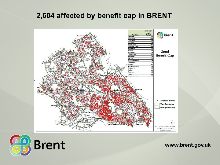 2, 604 affected by benefit cap in BRENT