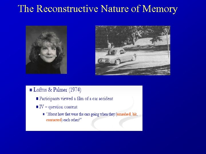 The Reconstructive Nature of Memory