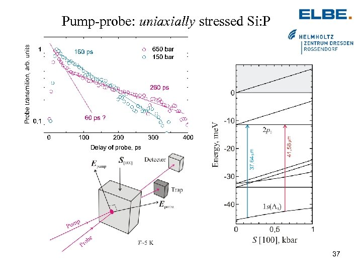 Pump-probe: uniaxially stressed Si: P 37