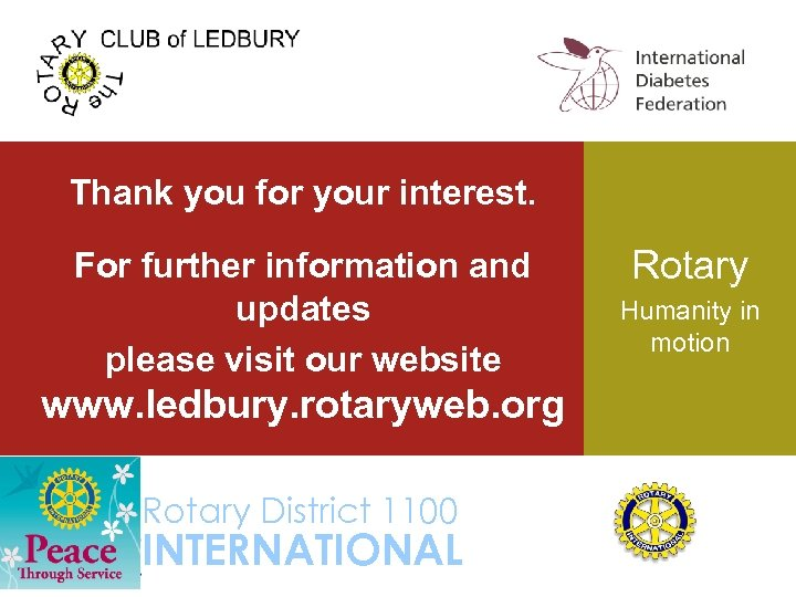 Thank you for your interest. For further information and updates please visit our website
