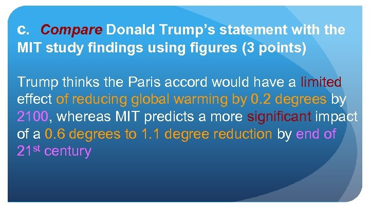 c. Compare Donald Trump's statement with the MIT study findings using figures (3 points)