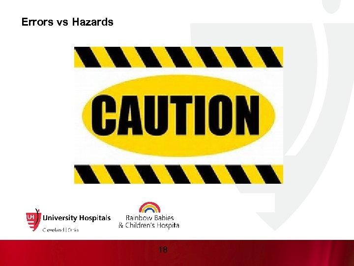 Errors vs Hazards 18