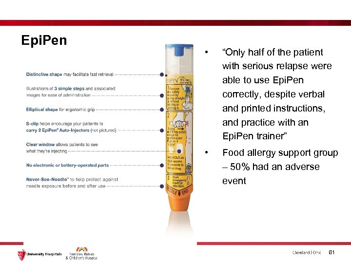 """Epi. Pen • """"Only half of the patient with serious relapse were able to"""