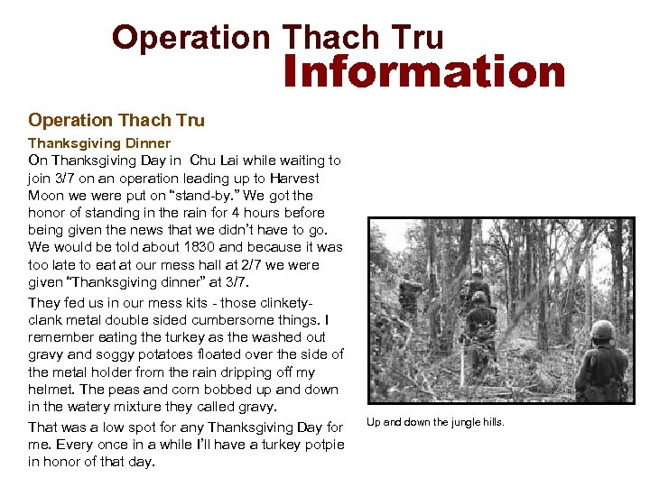 Operation Thach Tru Information Operation Thach Tru Thanksgiving Dinner On Thanksgiving Day in