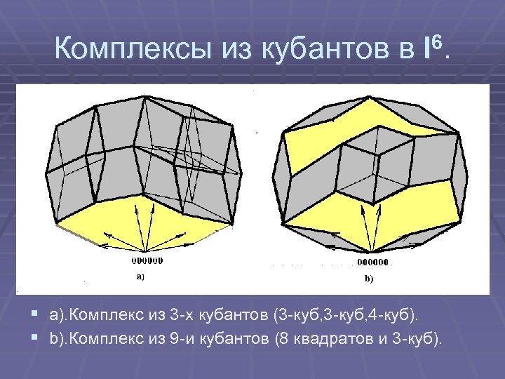 Комплексы из кубантов в I 6. § a). Комплекс из 3 -х кубантов (3