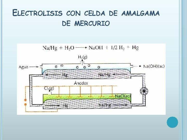 ELECTROLISIS CON CELDA DE AMALGAMA DE MERCURIO