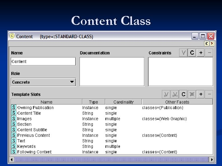 Content Class
