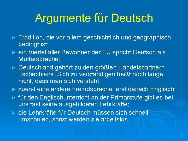 Mehrsprachigkeit in Tschechien Deutsch nach Englisch Deutsch
