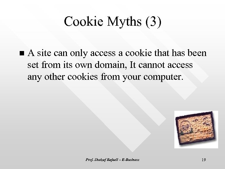 Cookie Myths (3) n A site can only access a cookie that has been