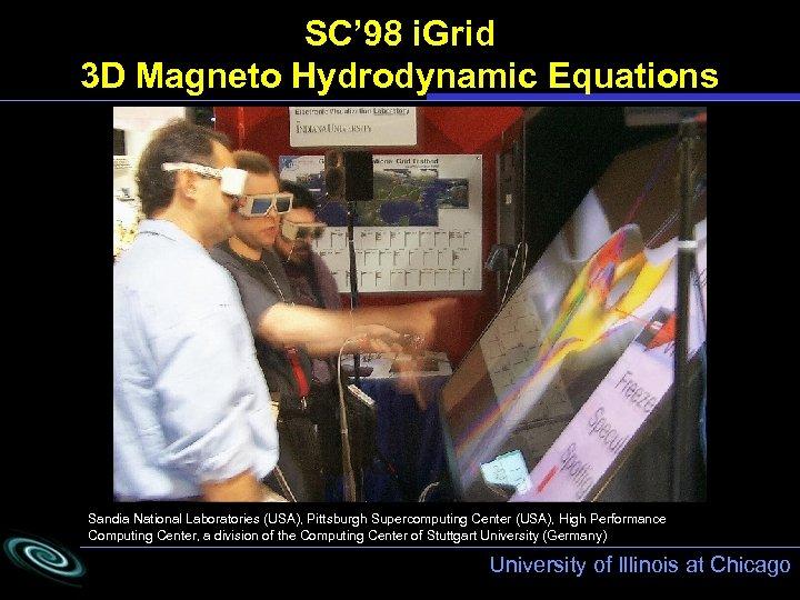 SC' 98 i. Grid 3 D Magneto Hydrodynamic Equations Sandia National Laboratories (USA), Pittsburgh