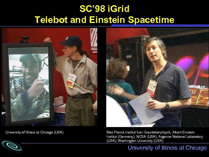 SC' 98 i. Grid Telebot and Einstein Spacetime University of Illinois at Chicago (USA)