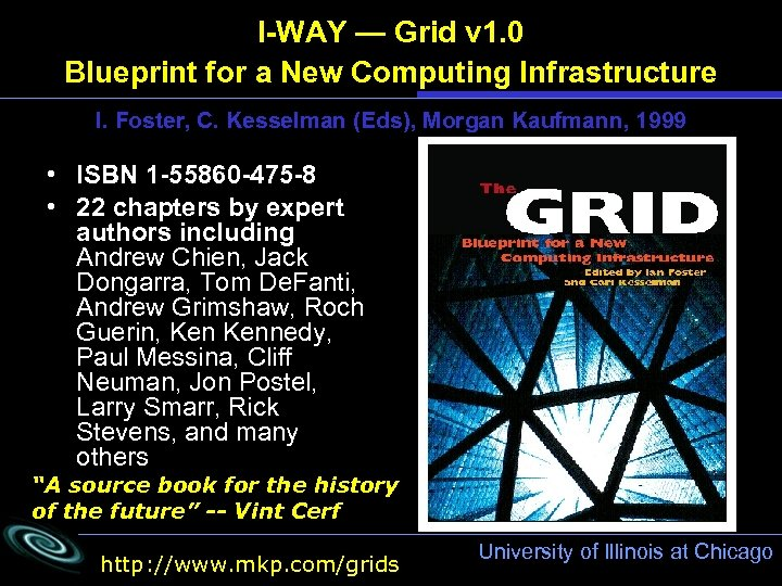 I-WAY — Grid v 1. 0 Blueprint for a New Computing Infrastructure I. Foster,